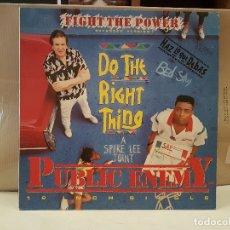 Discos de vinilo: LP FIGHT THE POWER DO THE RIGHT THING PUBLIC ENEMY BUEN ESTADO VER FOTOS. Lote 176182752