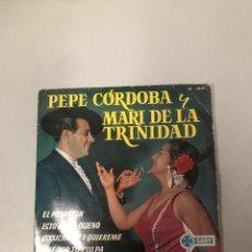 Dischi in vinile: PEPE CÓRDOBA Y MARI DE LA TRINIDAD. Lote 176186459