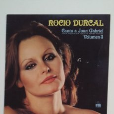Discos de vinilo: ROCIO DURCAL.- CANTA A JUAN GABRIEL VOLUMEN 3. III. LP. TDKDA62. Lote 176189645