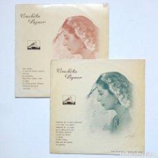 Discos de vinilo: LOTE 2 LP (10 PULGADAS) - CONCHITA PIQUER (LA VOZ DE SU AMO, 1958 APROX) - MICROSURCO - QUIROGA. Lote 176192874