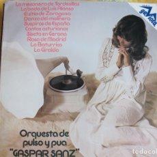 Dischi in vinile: LP - GASPAR SANZ, ORQUESTA DE PULSO Y PUA (SPAIN, DISCOS GAVIOTA 1974). Lote 176203532