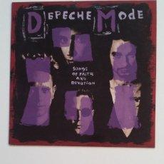 Discos de vinilo: DEPECHE MODE.: SONGS OF FAITH AND DEVOTION. LP. TDKLP. Lote 176205295