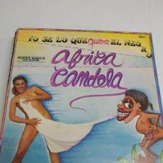 Discos de vinilo: AFRICA CANDELA – YO SE LO QUE QUIERE EL NEGRO / TELEMACOROCUMBEMBE . Lote 176214120