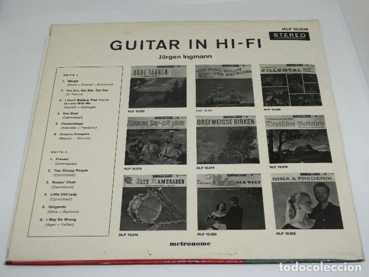 Discos de vinilo: LP - JORGEN INGMANN - GUITAR IN HI-FI - JøRGEN - JÖRGEN - Foto 2 - 176217097