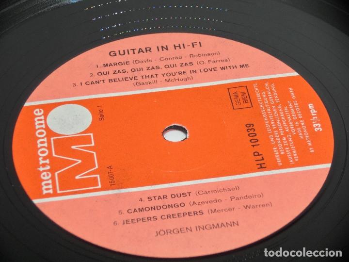 Discos de vinilo: LP - JORGEN INGMANN - GUITAR IN HI-FI - JøRGEN - JÖRGEN - Foto 3 - 176217097
