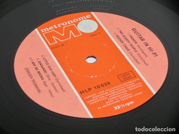 Discos de vinilo: LP - JORGEN INGMANN - GUITAR IN HI-FI - JøRGEN - JÖRGEN - Foto 5 - 176217097