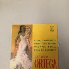 Discos de vinilo: LUISA ORTEGA. Lote 176220333