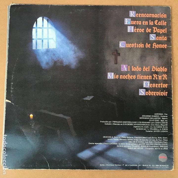 Discos de vinilo: Santa - reencarnacion - LP + encarte - Disco en perfecto estado original de epoca - Foto 2 - 176223098
