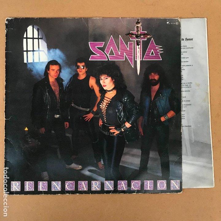 SANTA - REENCARNACION - LP + ENCARTE - DISCO EN PERFECTO ESTADO ORIGINAL DE EPOCA (Música - Discos - LP Vinilo - Heavy - Metal)