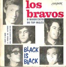 Discos de vinilo: EP LOS BRAVOS : BLACK IS BLACK (EDICION PORTUGAL, EXCELENTE ESTADO ). Lote 176223429