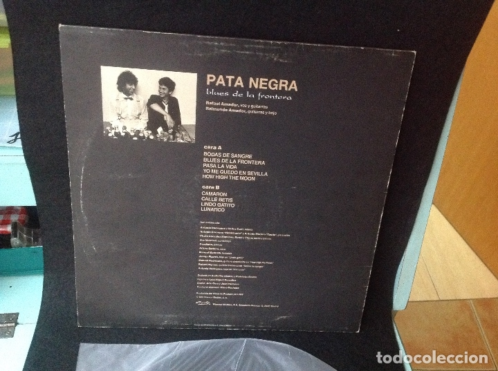 Discos de vinilo: PATA NEGRA - BLUES DE LA FRONTERA LP SPAIN 1987 - Foto 3 - 176237068