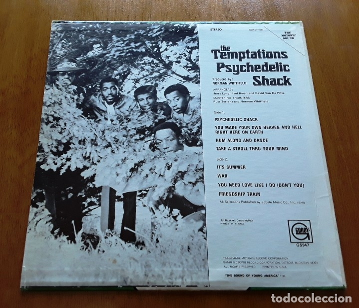 Discos de vinilo: THE TEMPTATIONS- PSYCHEDELIC SHACK (GORDY GS947 - USA 1970) ORIGINAL SOUL LP - Foto 2 - 176254355