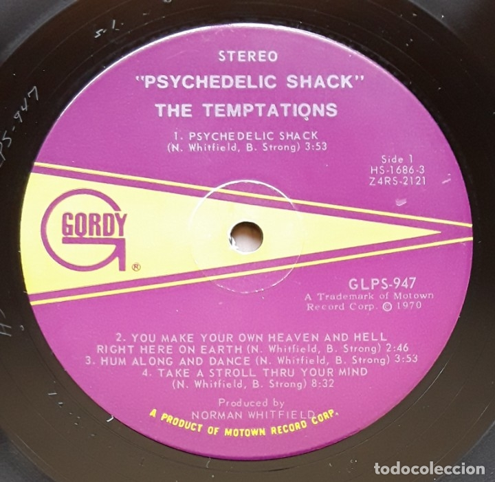 Discos de vinilo: THE TEMPTATIONS- PSYCHEDELIC SHACK (GORDY GS947 - USA 1970) ORIGINAL SOUL LP - Foto 3 - 176254355