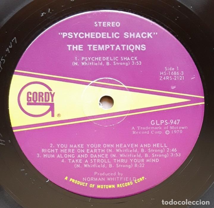 Discos de vinilo: THE TEMPTATIONS- PSYCHEDELIC SHACK (GORDY GS947 - USA 1970) ORIGINAL SOUL LP - Foto 3 - 176254355