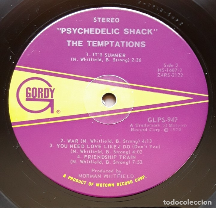 Discos de vinilo: THE TEMPTATIONS- PSYCHEDELIC SHACK (GORDY GS947 - USA 1970) ORIGINAL SOUL LP - Foto 4 - 176254355