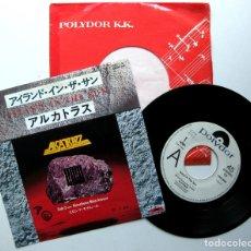 Discos de vinilo: ALCATRAZZ (YNGWIE MALMSTEEN) - ISLAND IN THE SUN - SINGLE POLYDOR 1983 PROMO JAPAN BPY. Lote 176261785