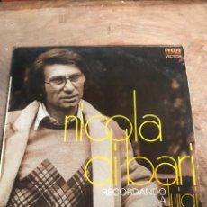 Discos de vinilo: NICOLÁ DI BARI. Lote 176266049