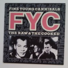 Discos de vinilo: FINE YOUNG CANNIBALS - THE RAW & THE COOKED. LP. TDKDA63. Lote 176276590