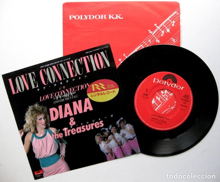 DIANA & THE TREASURES - LOVE CONNECTION - SINGLE POLYDOR 1985 JAPAN (EDICIÓN JAPONESA) BPY SYNTH-POP (Música - Discos de Vinilo - Singles - Pop - Rock Internacional de los 80)