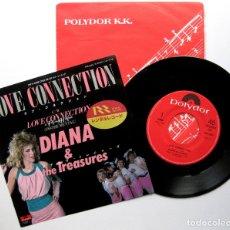 Discos de vinilo: DIANA & THE TREASURES - LOVE CONNECTION - SINGLE POLYDOR 1985 JAPAN (EDICIÓN JAPONESA) BPY SYNTH-POP. Lote 176279633
