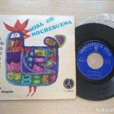 Discos de vinilo: MISA DE NOCHEBUENA DISCO EP MUSICA TOMAS ARAGUES 1968 PAX N 3123 CORAL NTRA SRA DE LAS NIEVES. Lote 176284382