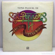 Discos de vinilo: LP - DISCO - VINILO - TEMA MUSICAL DE SAGT. PEPPERS - LONELY HEARTS CLUB - THE FIRST BAND. Lote 176288505