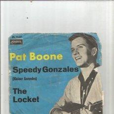 Disques de vinyle: PAT BOONE SPEEDY. Lote 176293045