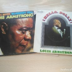 Discos de vinilo: 2 SINGLE (VINILO) LOUIS ARMSTRONG - MOON RIVER/BLUEBERRY HILL + HELLO, DOLLY!. Lote 176294962