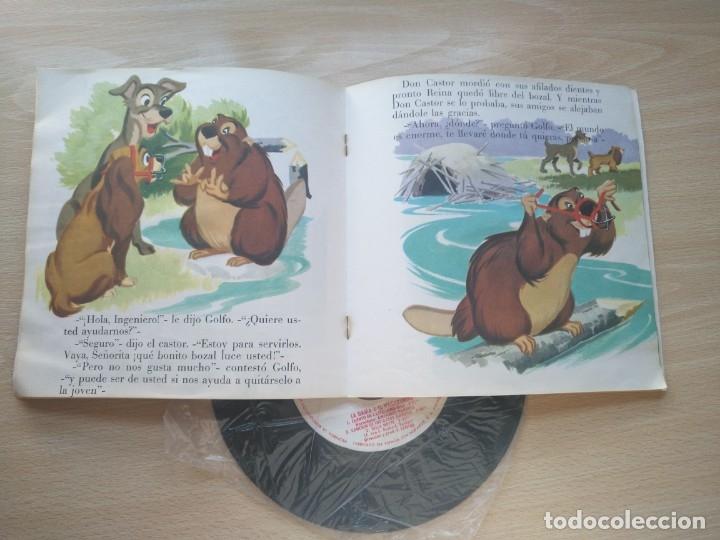 Discos de vinilo: LOTE 4 CUENTODISCO COMPLETOS + 1 SINGLE PINOCHO+BLANCANIEVE BAMBI LA DAMA Y.(Walt Disney)Bruguera, - Foto 7 - 176298888