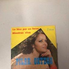 Discos de vinilo: PILAR ORTEGA. Lote 176304884