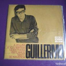 Discos de vinilo: GUILLERMO EP EDIGSA GALAXIA 1968 - A VELLIÑA/ A VOS HIRMANS + 2 GALICIA POP FOLK. Lote 176320118