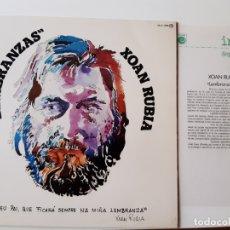 Discos de vinilo: XOAN RUBIA- LEMBRANZAS - LP PROMO 1977 + HOJA PROMOCIONAL RADIO - VINILO COMO NUEVO.. Lote 176321387