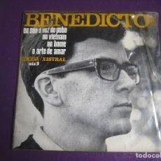 Discos de vinil: BENEDICTO EP EDIGSA XISTRAL 1968 EU SON A VOZ DO POBO +3 GALICIA CANTAUTOR POESIA FOLK 60'S . Lote 176322485