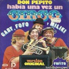 Discos de vinilo: GABY, FOFO, MILIKI Y FOFITO. SINGLE. SELLO MOVIEPLAY. EDITADO EN ESPAÑA. AÑO 1974. Lote 176330147