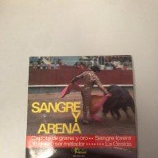 Discos de vinilo: SANGRE Y ARENA. Lote 176330908