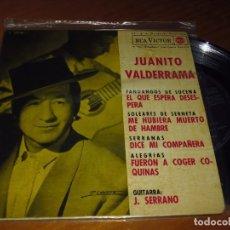 Discos de vinilo: JUANITO VALDERRAMA . GUITARRA J. SERRANO - SINGLE - PEDIDO MINIMO 6 EUROS. Lote 176335429