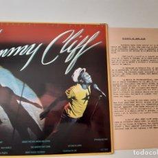 Discos de vinilo: JIMMY CLIFF- THE BEST OF JIMMY CLIFF - SPAIN LP 1981 + HOJAS PROMO RADIO- VINILO COMO NUEVO.. Lote 176342827