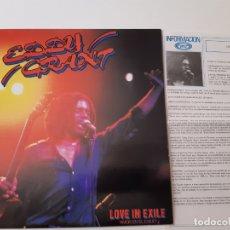 Discos de vinilo: EDDY GRANT- LOVE IN EXILE- SPAIN PROMO LP 1980+ HOJAS PROMO RADIO- VINILO COMO NUEVO.. Lote 176343813