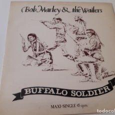 Discos de vinilo: BOB MARLEY & THE WAILERS- BUFFALO SOLDIERS - SPAIN MAXI SINGLE 1983 - VINILO COMO NUEVO.. Lote 176350513