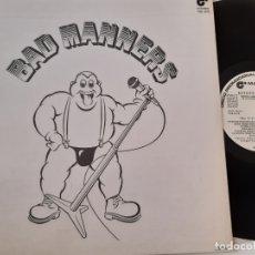 Discos de vinilo: BAD MANNERS- SKA ´N´B - SPAIN PROMO LP 1980 - WHITE LABEL- VINILO COMO NUEVO.. Lote 176352307