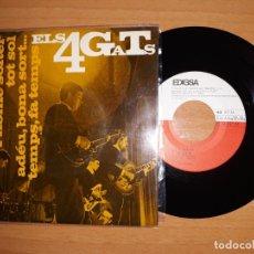 Discos de vinilo: ELS 4 GATS.L' HOME SOLTER,TOT SOL, ADEU BONA SORT ETC... Lote 176353493
