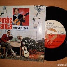Disques de vinyle: ESPINAS CANTA BRASSENS.. Lote 176355670