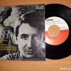 Discos de vinilo: PATRICK JACQUE.MES PROP DE VOS.ETC.. Lote 176356033