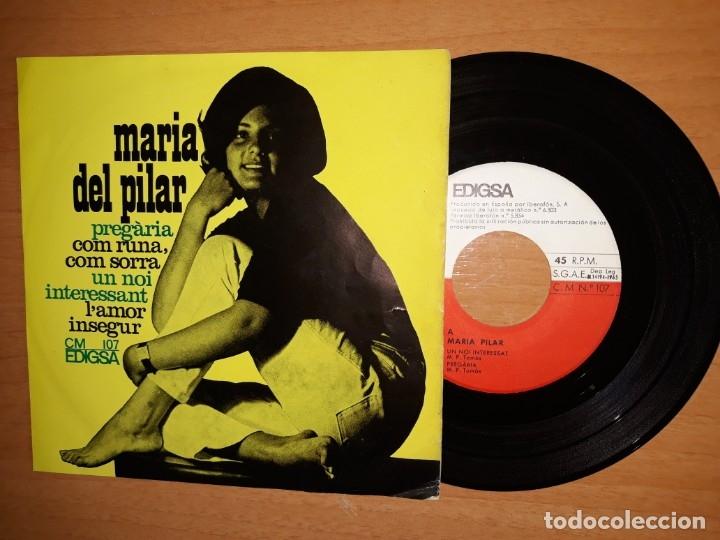 MARÍA DEL PILAR.PREGARIA.COM RUNA COM SORRA.UN NOI INTERESSANT.ETC (Música - Discos de Vinilo - EPs - Solistas Españoles de los 50 y 60)