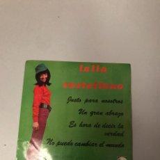 Discos de vinilo: LALLA CASTELLANO. Lote 176363010