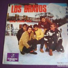 Discos de vinilo: LOS BRAVOS SG COLUMBIA 1967 - SAN REMO - UNO COME NOI/ DON'T BE LEFT OUT IN THE COLD POP BEAT MOD 60. Lote 176363753