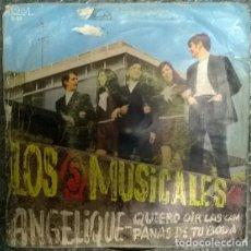 Discos de vinilo: LOS 5 MUSICALES. ANGELIQUE/ QUIERO OIR LAS CAMPANAS DE TU BODA. PALOBAL, SPAIN 1970 SINGLE. Lote 176364619