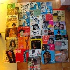 Discos de vinilo: LOTE DE 36 EPS VARIADOS,DALIDA,RAPHAEL,MANOLO ESCOBAR,PERET,GUARDIOLA,MARIFE DE TRIANA,RENATO CAROSO. Lote 176367527