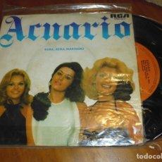 Discos de vinilo: ACUARIO - SINGLE - PEDIDO MINIMO 6 EUROS. Lote 176376652