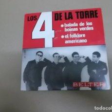 Discos de vinilo: LOS DE LA TORRE (SN) BALADA DE LOS BOINAS VERDES AÑO – 1966. Lote 176389174